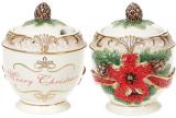Сахарница «Merry Christmas» 300мл, керамика с объемным рисунком