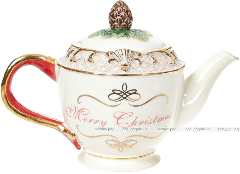 Чайник заварочный «Merry Christmas» 800мл, керамика с объемным рисунком