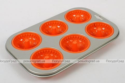 Силиконовая форма для выпечки кексов Unico Cake с антипригарным каркасом Сharlotte
