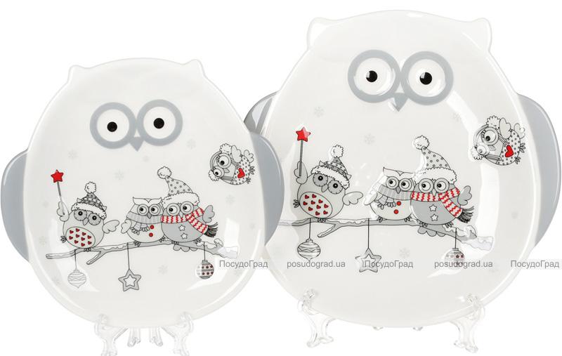 """Тарелка керамическая """"Совушки-волшебницы"""" 22.8см"""
