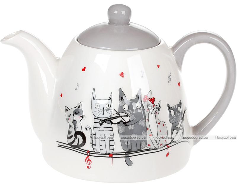 """Чайник заварочный """"Ночная серенада"""" 800мл, керамика"""