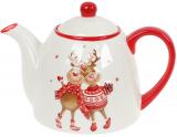 Заварочный чайник «Гостеприимные Олени» керамический 900мл
