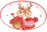 Блюдо керамическое «Гостеприимные Олени» овальное 28.9х18.6см