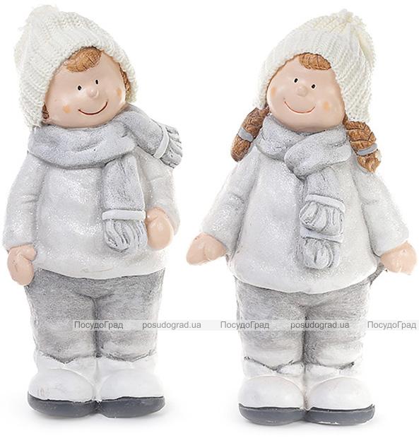"""Декоративна керамічна фігурка """"Срібні діти"""" 41см"""