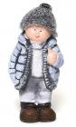 """Статуетка керамічна декоративна """"Хлопчик в куртці"""" 18см"""