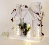 """Декор """"Зимний замок"""" 26см, деревянный белый с LED-подсветкой"""