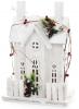 """Декор """"Зимний замок"""" 41см, деревянный белый с LED-подсветкой"""