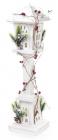 """Декоративный фонарь """"Зимний домик"""" 60см, деревянный белый с LED-подсветкой"""