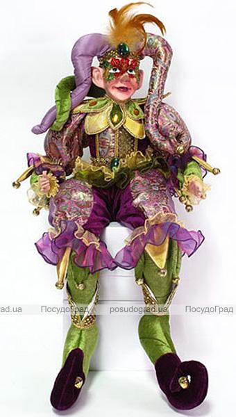 """Игрушка для декора """"Шут"""" в фиолетовом 75см"""
