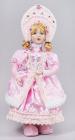 """Фігура-лялька """"Снігуронька в рожевому"""" 43см"""