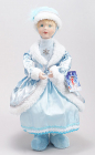 "Фигура-кукла ""Снегурочка в голубом"" 43см"
