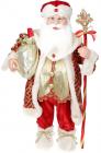"""Фигура новогодняя """"Санта с мешком и посохом"""" 61см"""