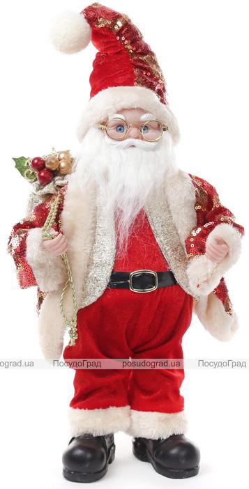 """Фигура музыкальная """"Санта в очках"""" 40.5см"""