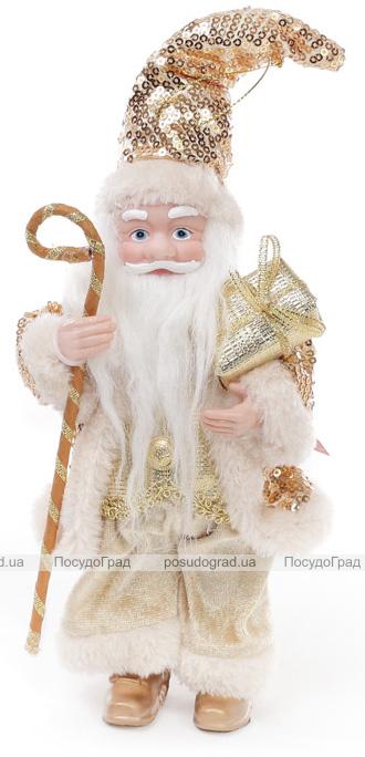 """Фигура новогодняя """"Санта в бежевом"""" 25.4см"""