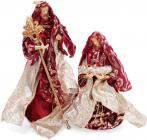 """Рождественская игрушка """"Вертеп"""" 2 фигуры 30см и 40см, красная"""