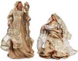 """Рождественская игрушка """"Вертеп"""" 2 фигуры 30см и 40см, шампань"""