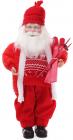 """Новогодняя игрушка """"Санта Клаус с лыжами"""" 46см, красный"""