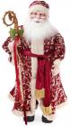 """Новогодняя игрушка """"Санта Клаус с посохом"""" 61см, красный"""