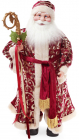 Новогодняя игрушка Санта Клаус с посохом 61см, красный