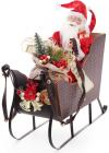 """Новогодняя декоративная игрушка """"Санта в санях"""" 48см"""