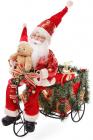 """Новогодняя декоративная игрушка """"Санта на велосипеде"""" 48см"""