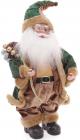 """Фигура новогодняя """"Санта в зеленой шубке"""" 40.6см"""