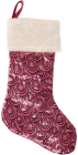 """Носок для подарунків """"Рожевий"""" 53см, з паєтками"""