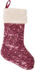 """Носок для подарков """"Розовый"""" 53см, с пайетками"""
