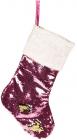 """Носок для подарунків """"Блискучий рожевий"""" 53см, з паєтками"""