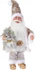 """Фігура музична """"Санта з срібним мішком"""" 41см"""