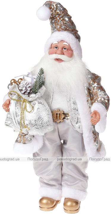 "Фигура ""Санта с серебряным мешком"" 46см"