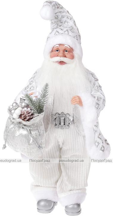 """Фигура """"Санта в серебре"""" 46см"""