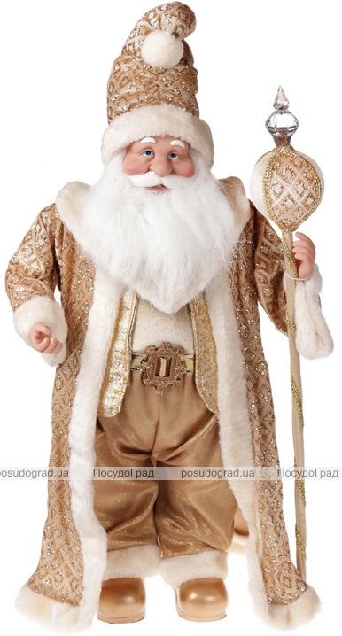 """Фигура """"Санта с посохом"""" 71см, золото"""