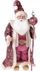 """Фігура """"Санта з посохом"""" 71см, в рожевому"""