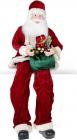 """Фігура """"Санта з смарагдовим мішком"""" 80см, сидячий"""