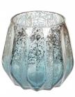 """Підсвічник Aiken """"Блакитне срібло"""" 10.5х10см, скляний"""