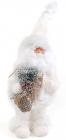 """Новогодняя декоративная игрушка под елку """"Белый Санта"""" 35см"""