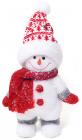 """Новорічна декоративна іграшка під ялинку """"Сніговик"""" 36см"""