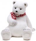 """Новогодняя декоративная игрушка под елку """"Медведь в шарфике"""" 37см"""