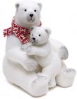 """Новогодняя декоративная игрушка под елку """"Медведи"""" 45см"""