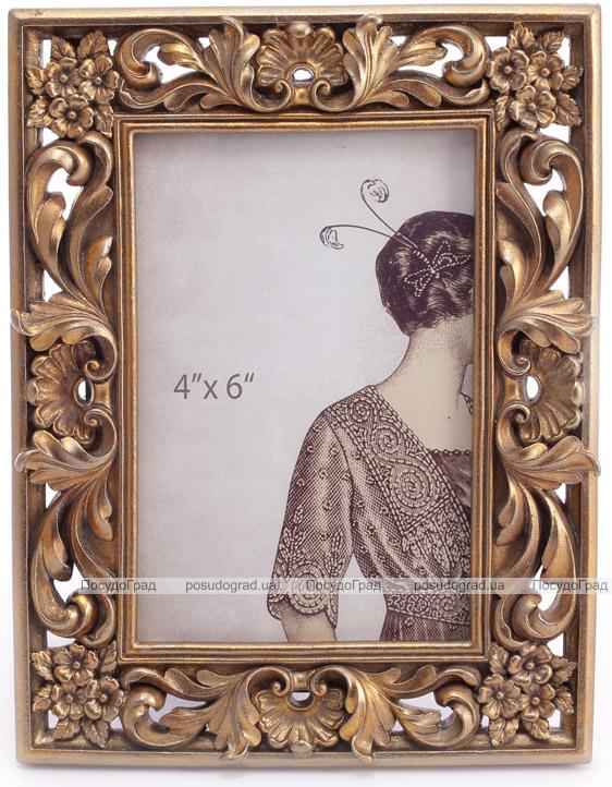 """Фоторамка """"Леди Милена"""" фото 10х15см, цвета состаренного золота"""