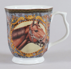 Кружка Horse 350мл восьмиугольная