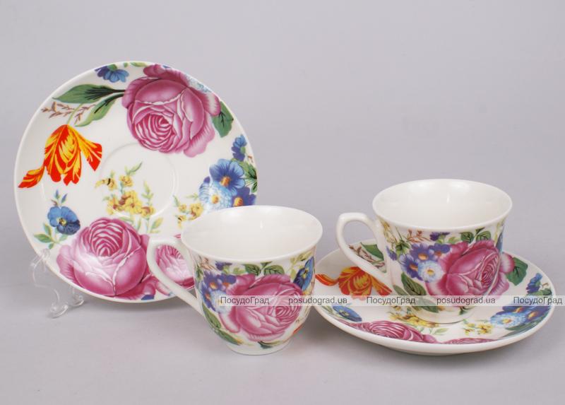 Кофейный набор Romantic Life-22, 6 чашек 80мл и 6 блюдец