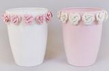 """Ваза фарфоровая Bona 21см """"Золотой сад"""" Wide pink glass with roses"""