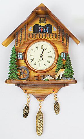 """Часы настенные """"Избушка"""", 14.5x3x20см"""