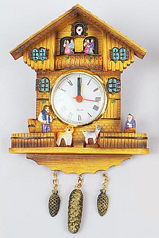 """Часы настенные """"Домик"""", 13.5x3.5x17.5см"""