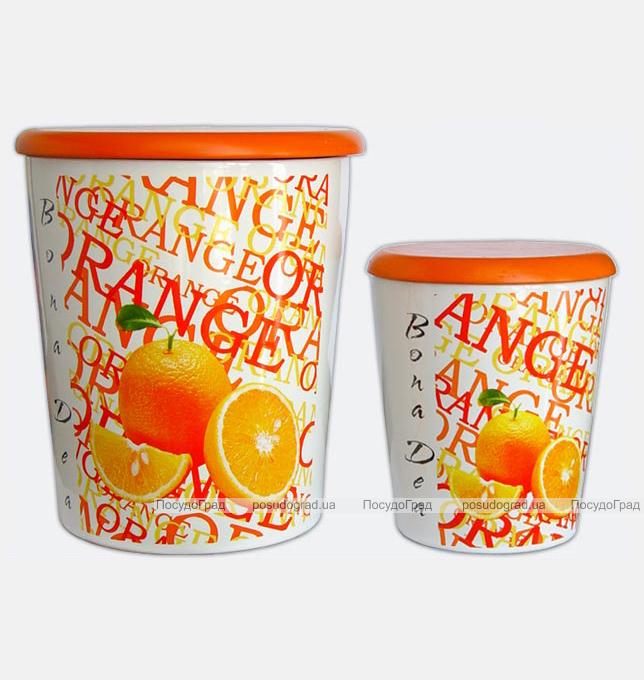 Набор 2 банки для сыпучих продуктов BOLA BOLS Апельсины 2л и 0,7л