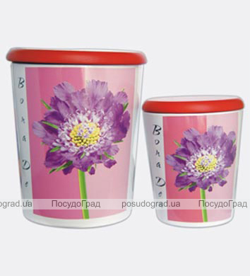 Набор 2 банки для сыпучих продуктов BOLA BOLS Маргаритки 2л и 0,7л