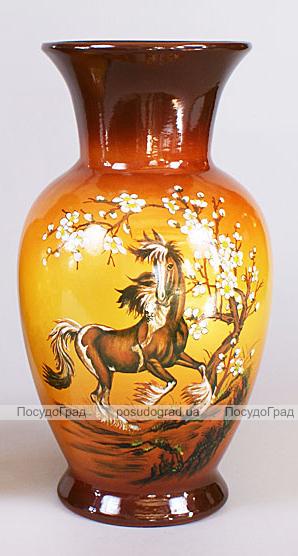 """Керамічна ваза """"Коні"""" -2 30см"""