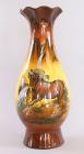 """Керамічна ваза """"Коні"""" 45см"""